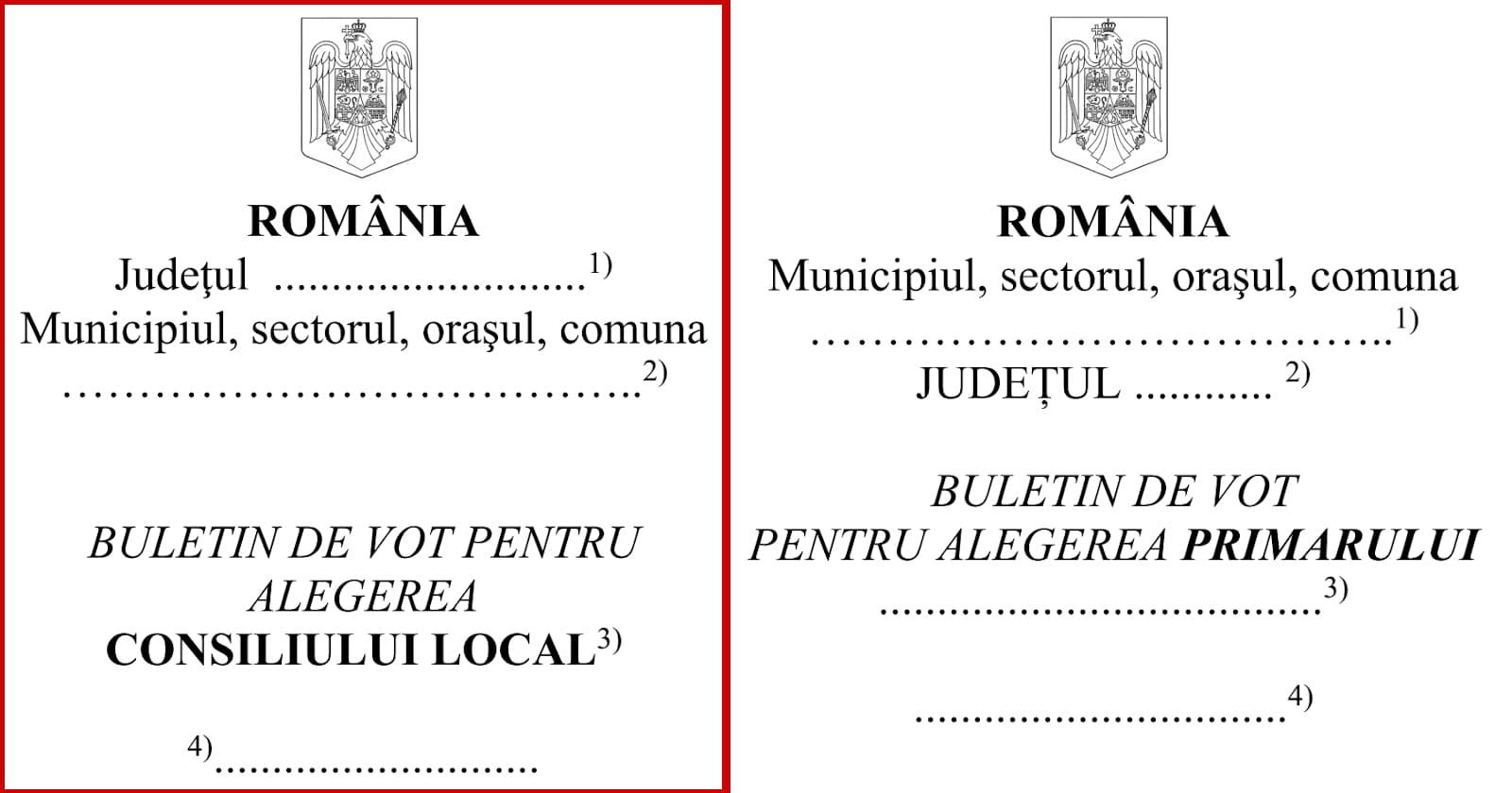 Hotărârea nr.8/2020 pentru aprobarea modelelor buletinelor de vot care sunt folosite la alegerile locale