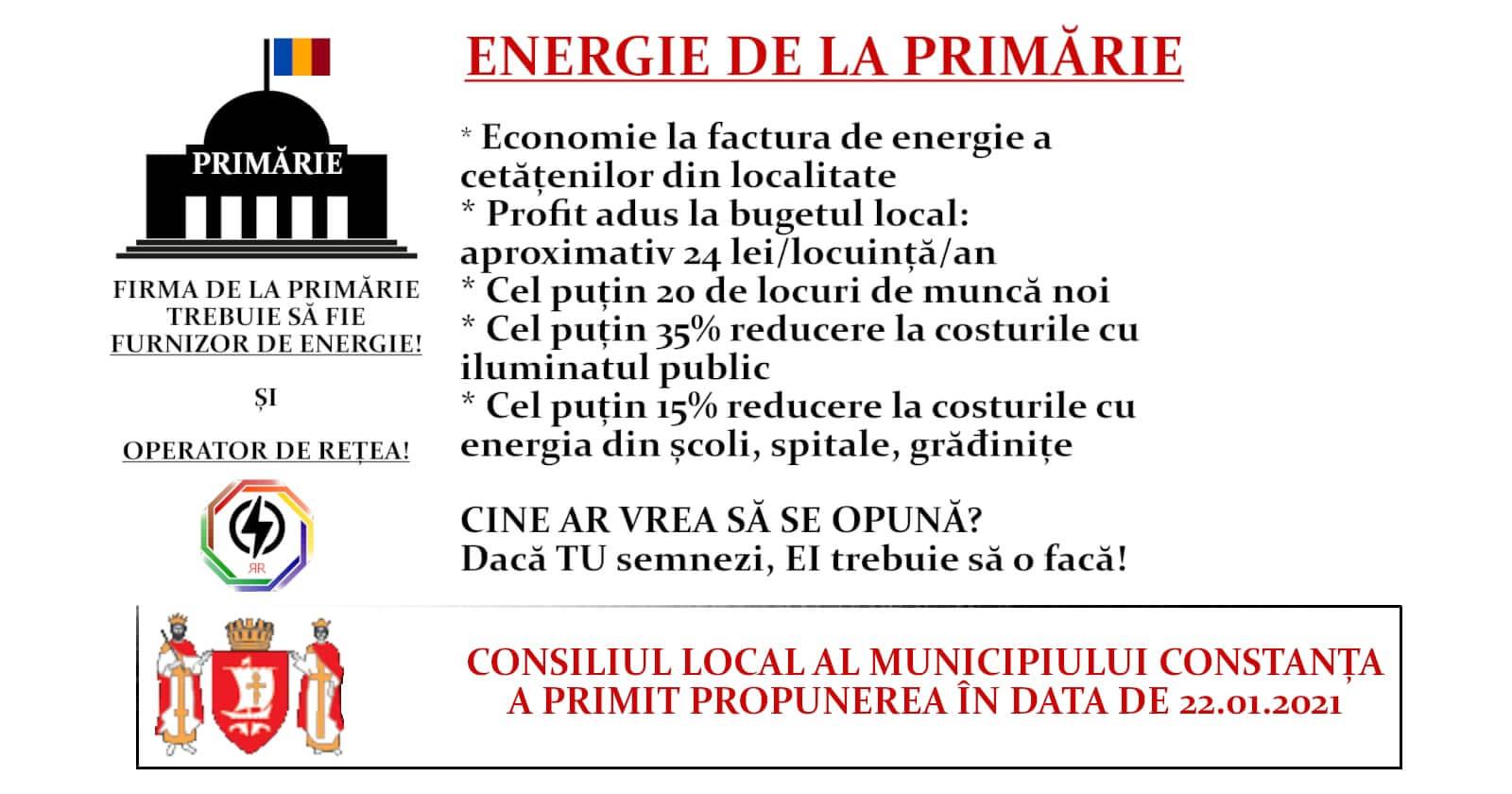 Solicitarea adresată Consiliului Local al Municipiului Constanța