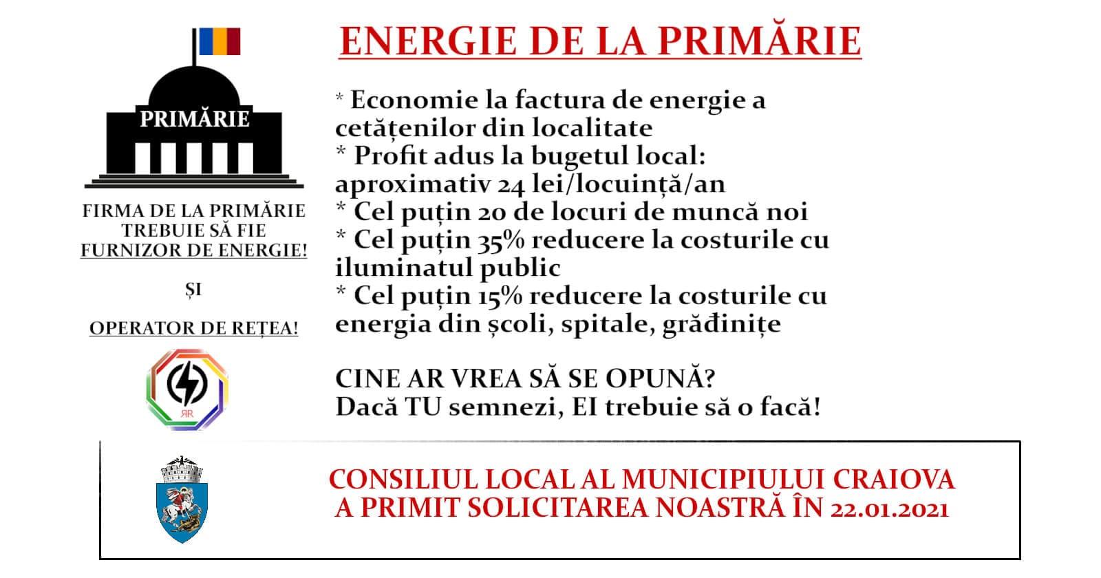 Solicitare adresată Consiliului Local al Municipiului Craiova