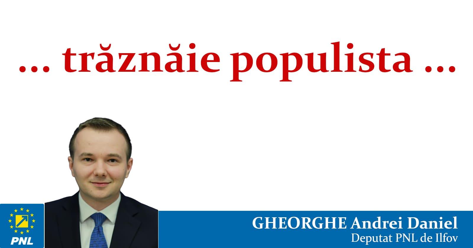 """Românii vrea """"trăznăie populistă"""""""